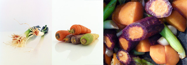 Zutaten für die Karottensuppe